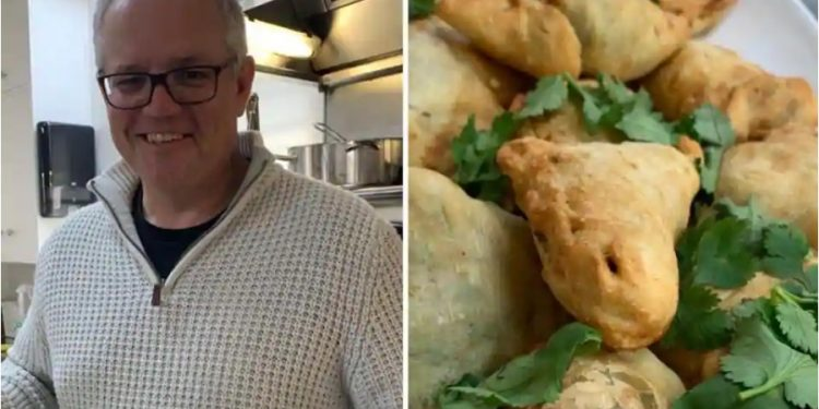 Morrison, who posted the images on Twitter, claims to have made the popular and much loved Indian snack 'ScoMosas' from scratch.
