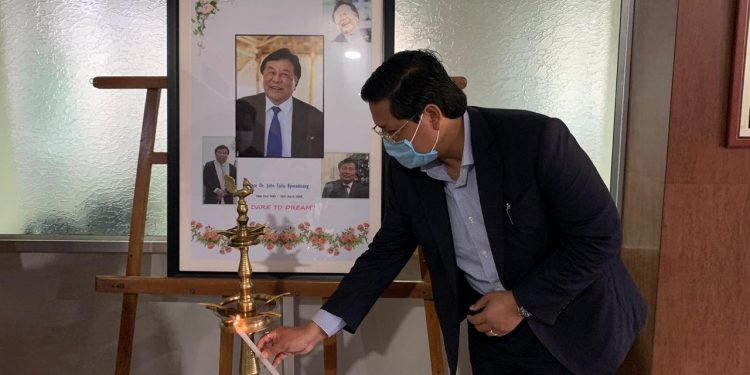 Meghalaya chief minister Conrad K Sangma, who visited the hospital on Saturday, paid tribute to the late renowned physician.