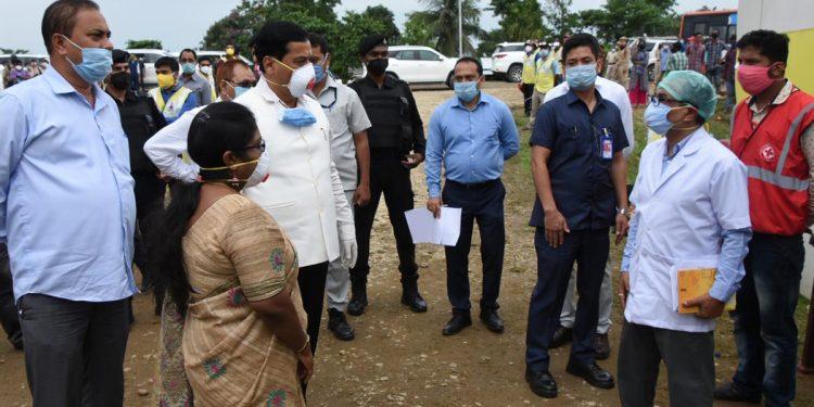 Assam chief minister Sarbananda Sonowal is visiting a quarantine centre at Kaziranga University campus and assessing its facilities at Jorhat on Thursday.