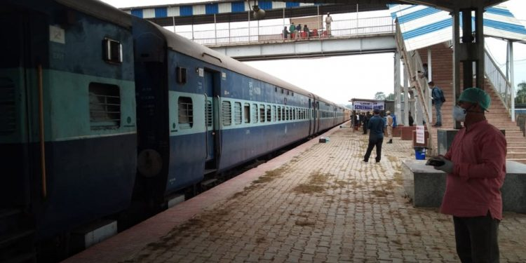 Train from Hyderabad arrives in Manipur