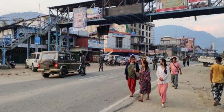 social distancing goes for a ross in Itanagar