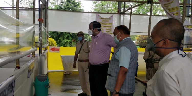 Ranjit Dutta in Tezpur University quarantine centre on Monday. Image: Northeast Now