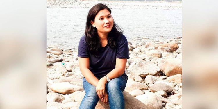 Journalist Ranjita Rabha who has been sacked by Prag News because of her pregnancy