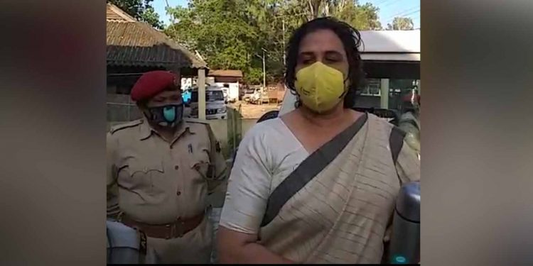 Rupa Rani Bhuyan at the time of her arrest on Wednesday afternoon