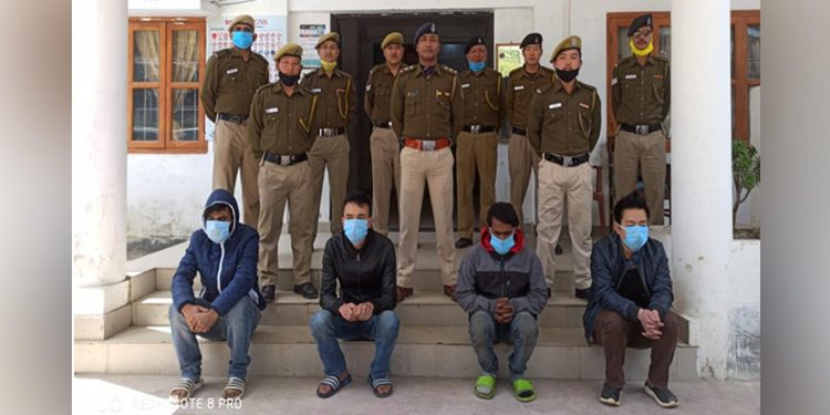 West Kameng police busted a drug racked and arrested five persons. Image: Northeast Now