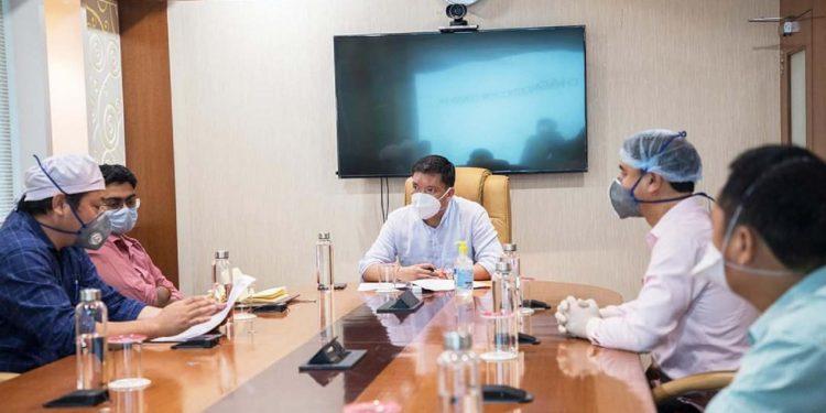 Arunachal CM Pema Khandu during the meeting with IMA on Monday. Image: Northeast Now