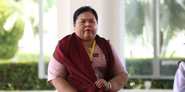: Ex-CM of Tanintharyi region Daw Lei Lei Maw. Image credit: Irrawaddy