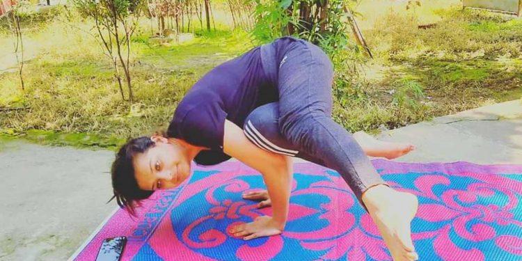 Smita Parashar, a Bajali girl, who has began online yoga classes during lockdown. Image: Northeast Now
