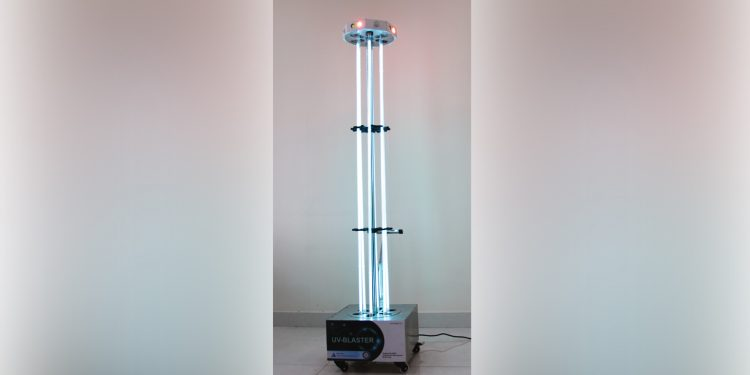 UV Disinfection Tower. Image credit: PIB