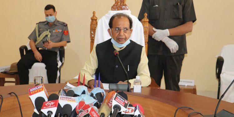 Assam Governor Jagdish Mukhi in Kokrajhar on Tuesday. Image: Northeast Now