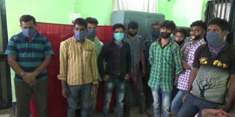 10 Bangladeshi nationals in police custody. Image: Northeast Now