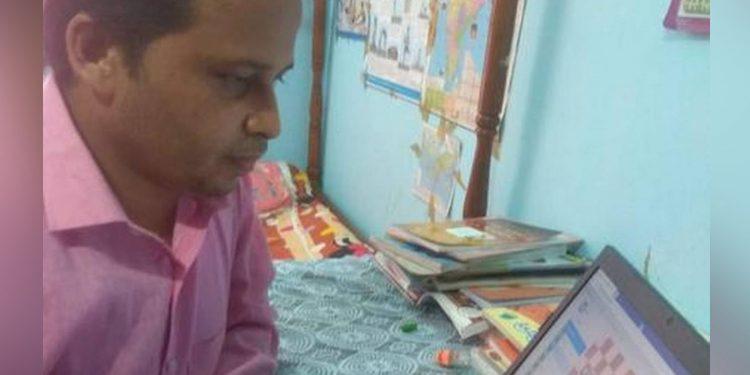 Tripura's Nirmal Das who created an online chess tournament. Courtesy: The Hindu