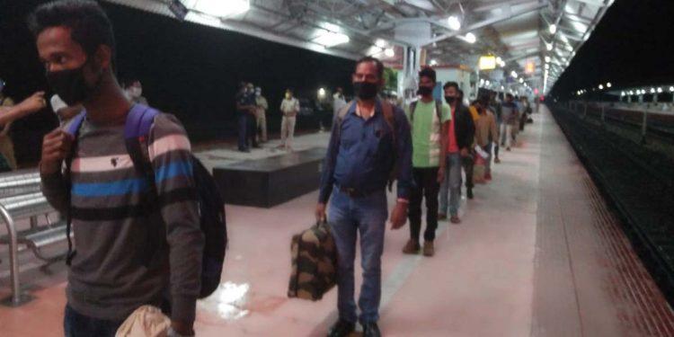 Train passengers in Kokrajhar railway station