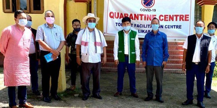 Quarantine centre Likabali