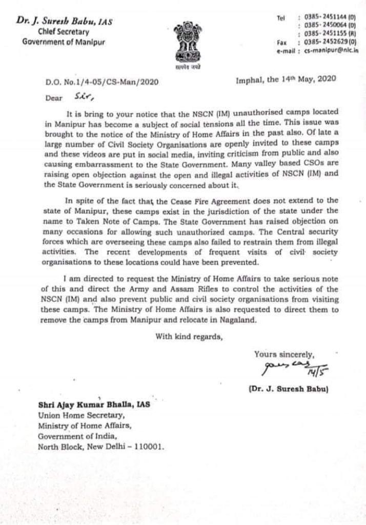 """Manipur government requests MHA to force NSCN (IM) to vacate """"unauthorised"""" camps 1"""