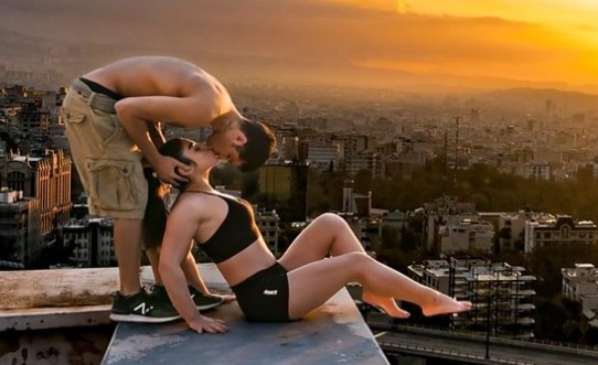Iranian Parkour athlete booked over rooftop kiss 1