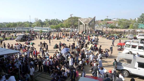 Stranded people from Nagaland. Image courtesy: Nagaland Post