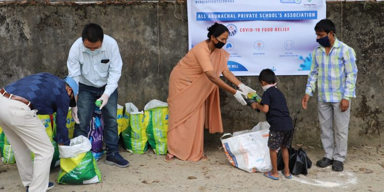 The food distribution programme came as an outcome of a webinar held by the AAPSA a week ago.