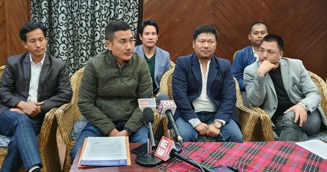 AAPSU leaders speak to reporters in Itanagar. (File image)