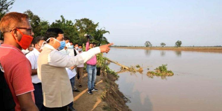 Assam CMSonowal in Hojai