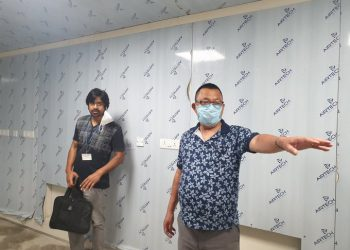 Nagaland health minister S Pangnyu Phom inspecting the ongoing work for installation of BSL-2 Lab at CIHSR, Dimapur. (File image)