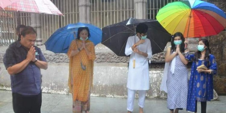 Health minister Sarma was seen without face mask, when he along with his wife and kids had gone to offer prayers at the shakti shrine atop Nilachal Hills.