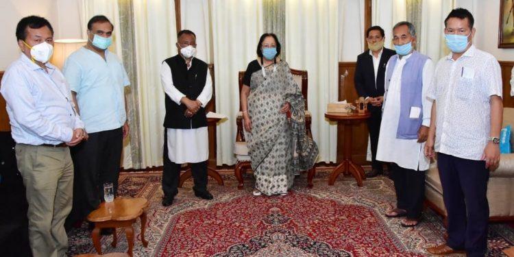 The four NPP legislators met Governor Najma Heptulla at the Raj Bhawan in Imphal on Thursday.