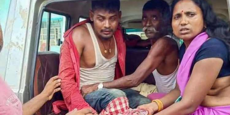 Lagan Yadav was taken away by Nepal police on Friday following the firing incident at Jankinagar area.