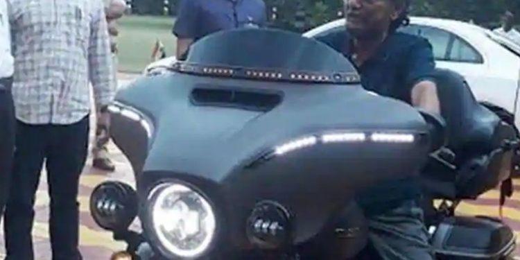 CJI SA Bobde in Harley Davidson in Nagpur