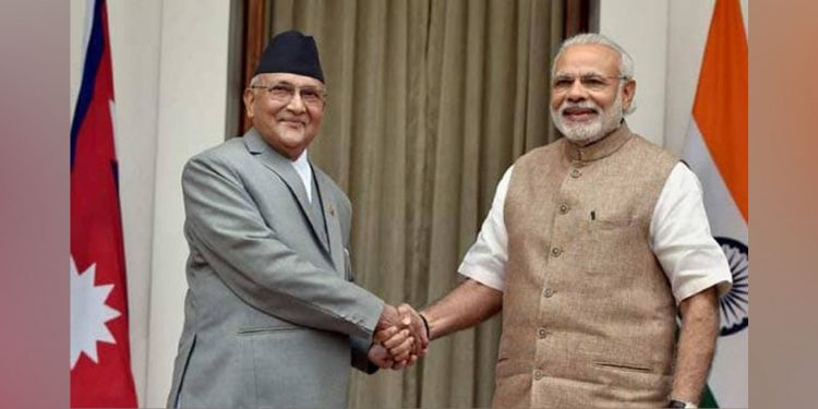 Nepal PM KP sharma Oli with his Indian counterpart Narendra Modi. (File image)