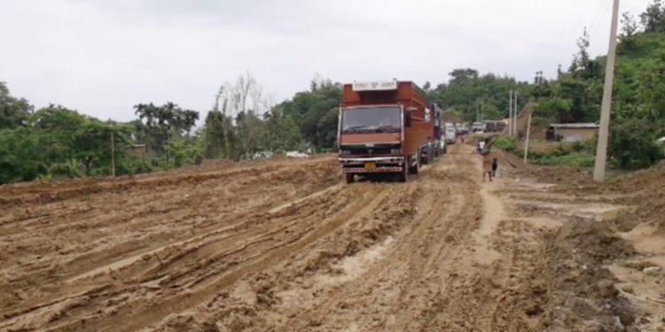 The stretch between Kacharichara under Kumarghat block to Singichara under Block in NH8. Image: Northeast Now