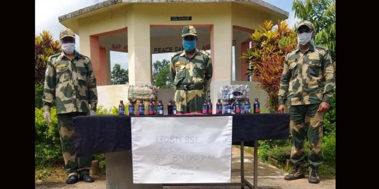 Contraband seized by BSF