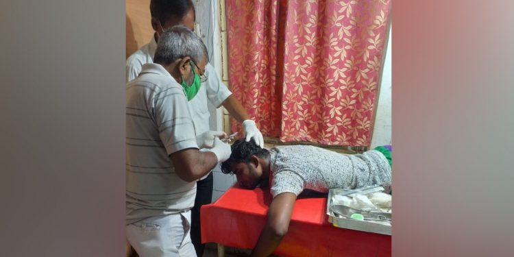 An injured person being treated by doctors. Image: Northeast Now