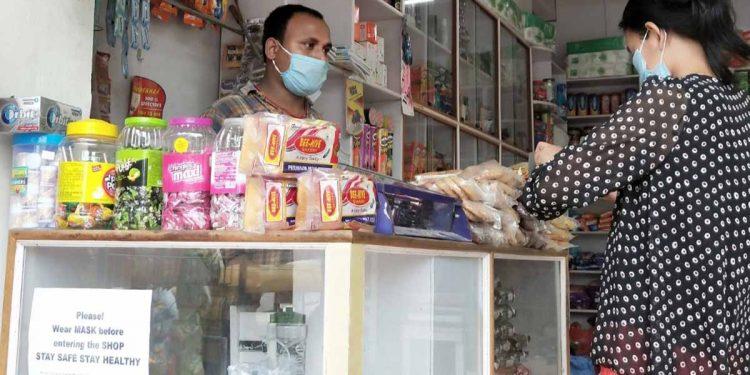 People wearing masks in Dimapur