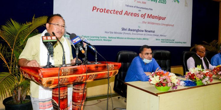 by Manipur forest minister Awangbow Newmai speaking during the launch of a documentary on the state's wildlife areas