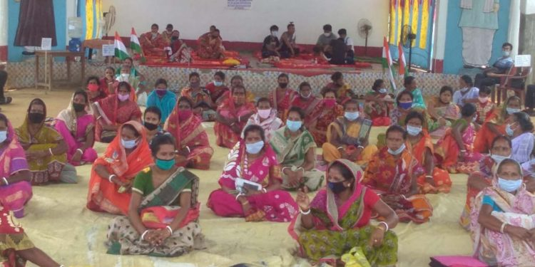 Joint committee members taking part in the indefinite strike against Bru resettlement in Tripura. Image: Northeast Now