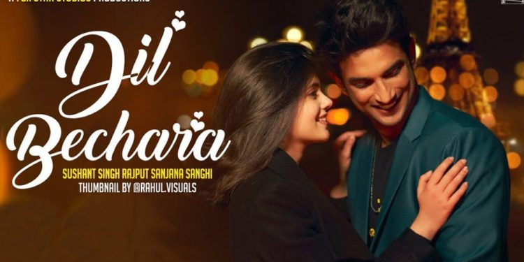 Movie poster of Sushant Singh Rajput's last movie Dil Bechara