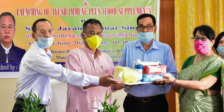 Manipur: Health minister Jayantakumar launches Ayush Immune Plus 1