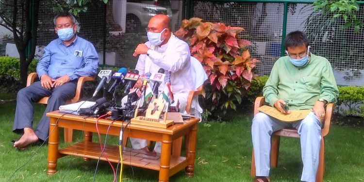 CM N Biren Singh addressing a press conference in Imphal (file image).