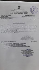Containment zone restrictions extended in Guwahati 1