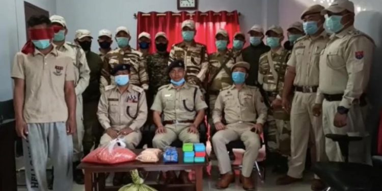 The police team arrested a cadre of Zomi Revolutionary Army (ZRA) along Moreh-Imphal route in Tengnoupal district.