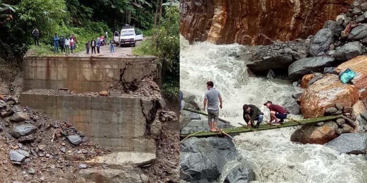 Landslides, floods