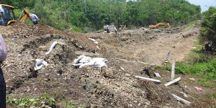 landslide on railway track