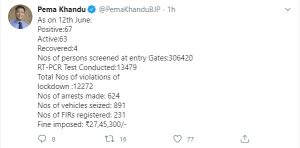 Arunachal has 67 COVID-19 cases 3
