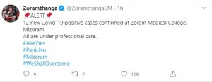 COVID-19 free Mizoram registers 12 new cases 3