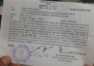 Manipur: 3 escort personnel of ADGP T Guite test COVID19 positive 1