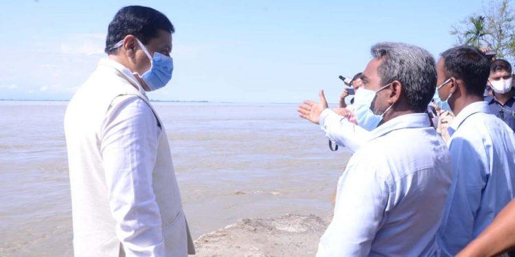 Sarbananda Sonowal visiting Rohmoria