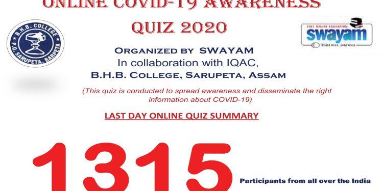 Assam: BHB College hosts e-quiz on Covid-19 awareness 1