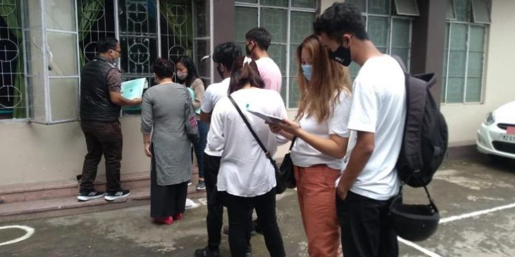A total of 9,677 students, including 5,216 girls, out of the total 12,324 appeared have passed the examinations.