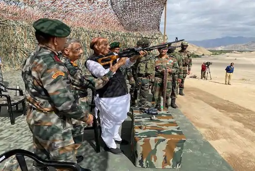 Rajnath Singh said this during his visit to Ladakh where he conducted a comprehensive review of the security arrangements.